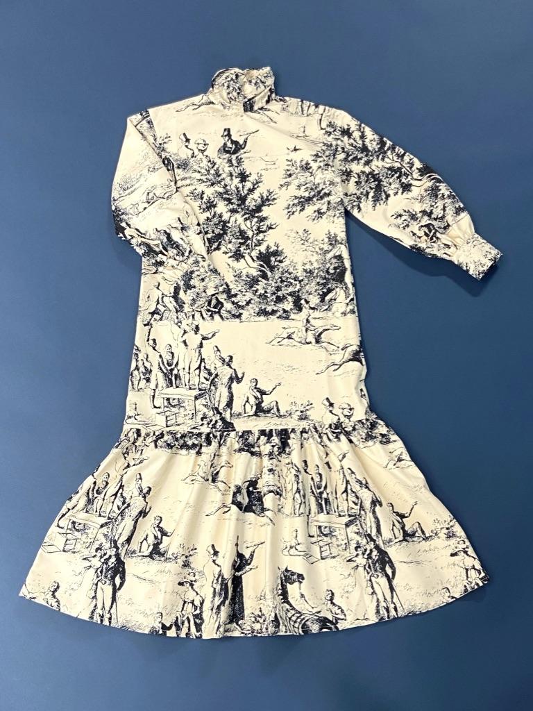 フレンチプリントドレス¥35,200/JOHN