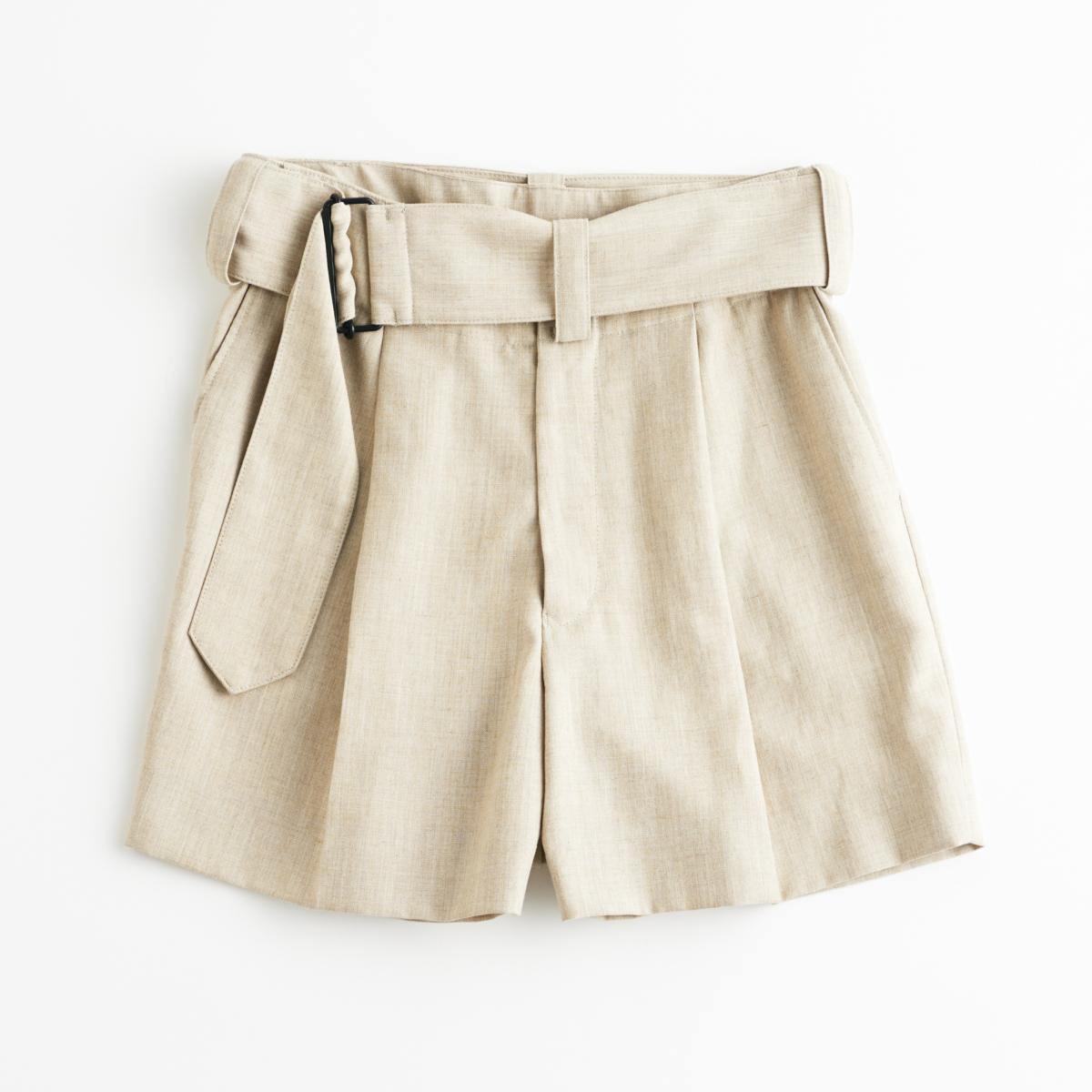 シックに穿けるきれいめショートパンツ【ハイク】