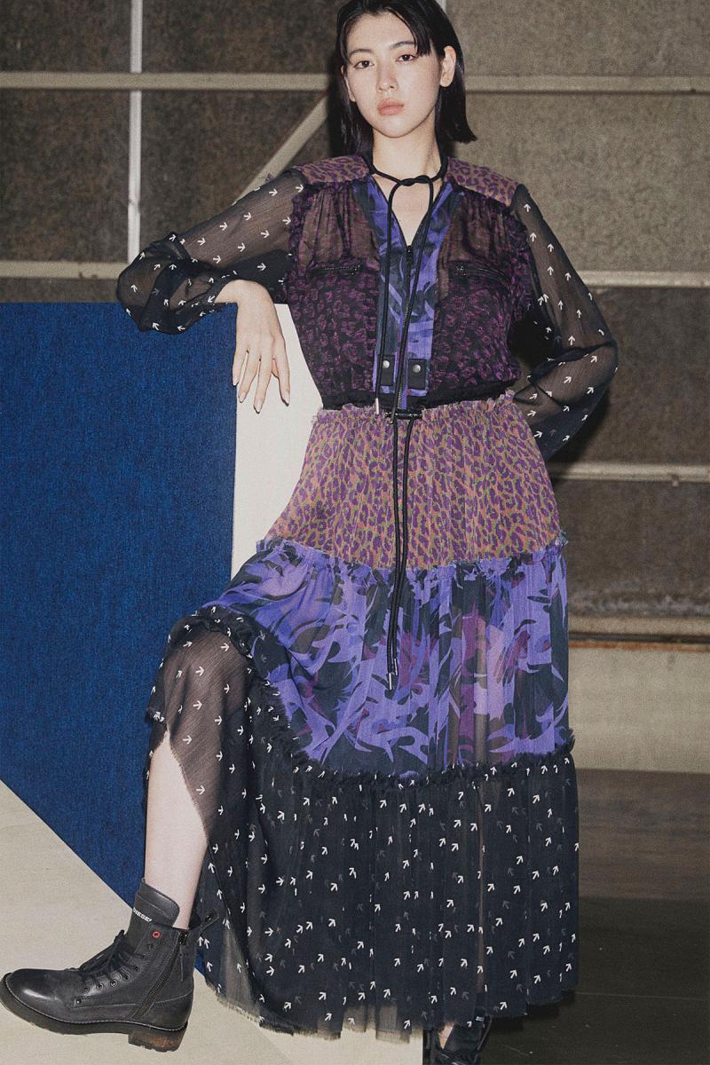 ドレス¥52,000・ブーツ¥35,000/ディーゼル ジャパン(ディーゼル)