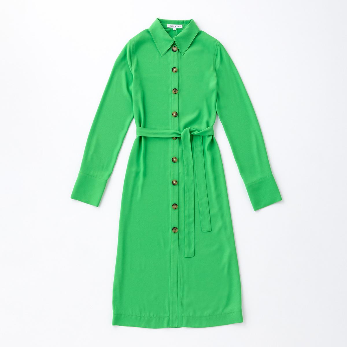 鮮やかなグリーンがスタイリングの主役に【レジーナ ピョウ】