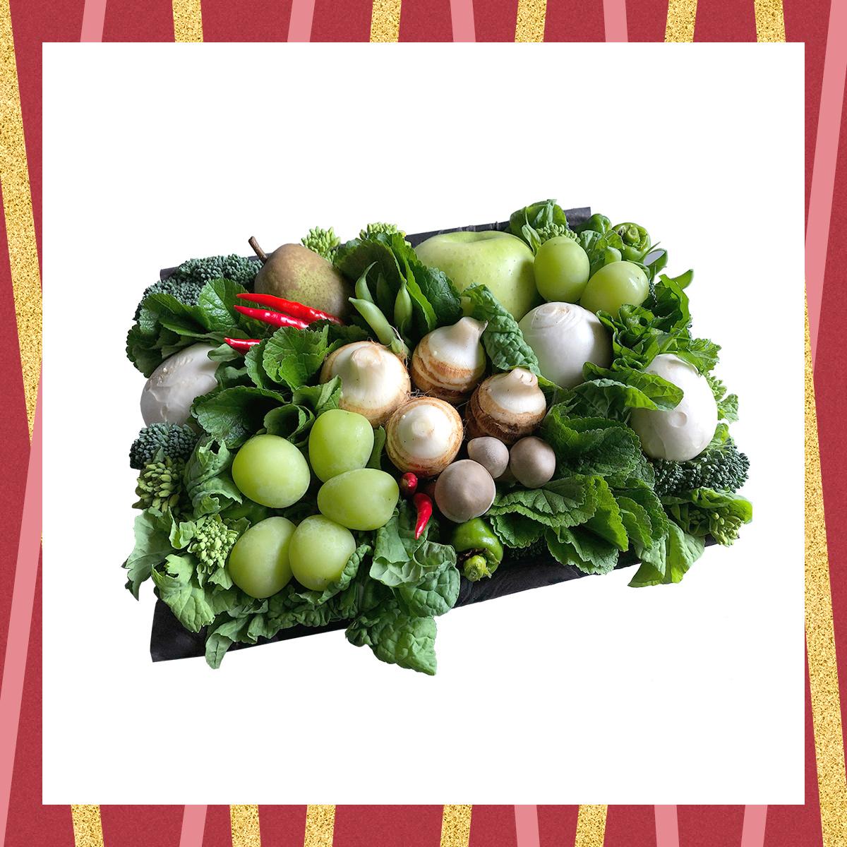 見て食べて楽しい、京野菜アレンジメント