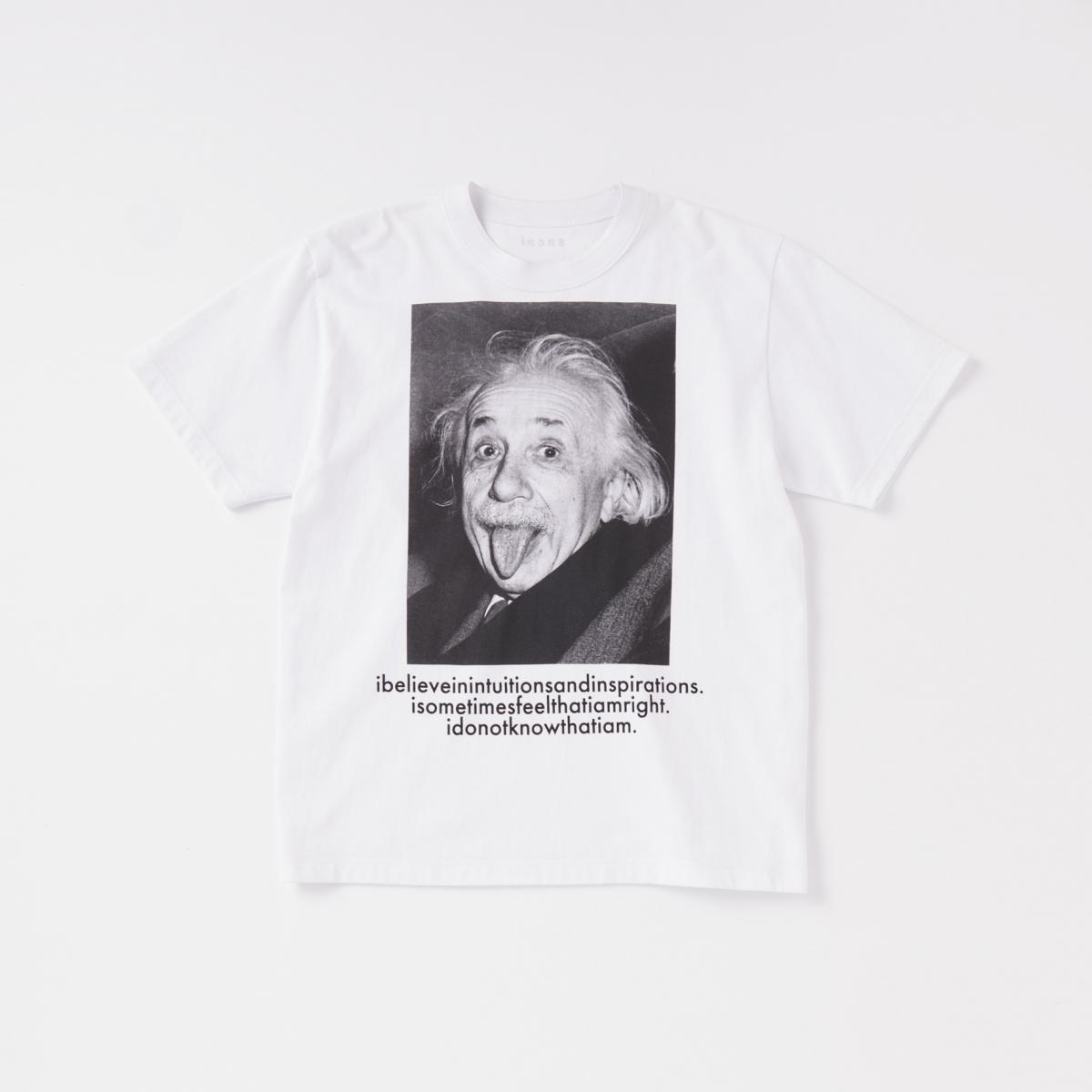 一枚で主役級のプリントTシャツ【サカイ × アインシュタイン】
