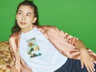 7/15 メンズスタイルに花を添える、フォトプリントTシャツ。