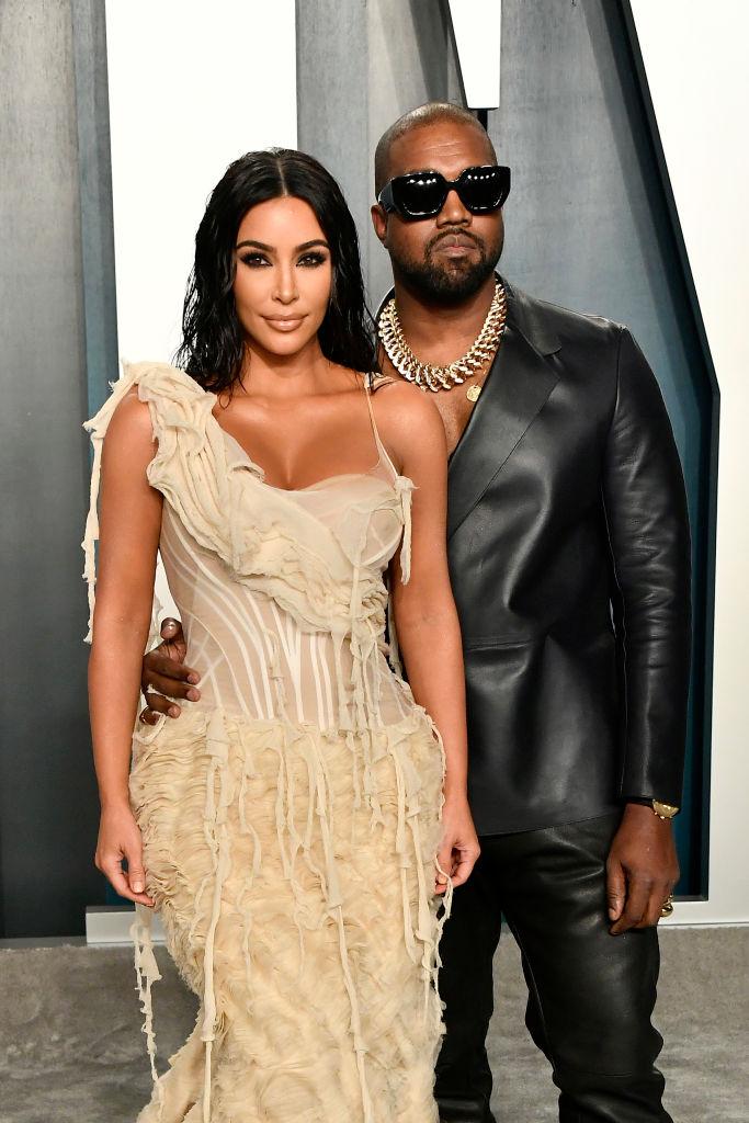 2月に離婚申請をしたキムとカニエ。