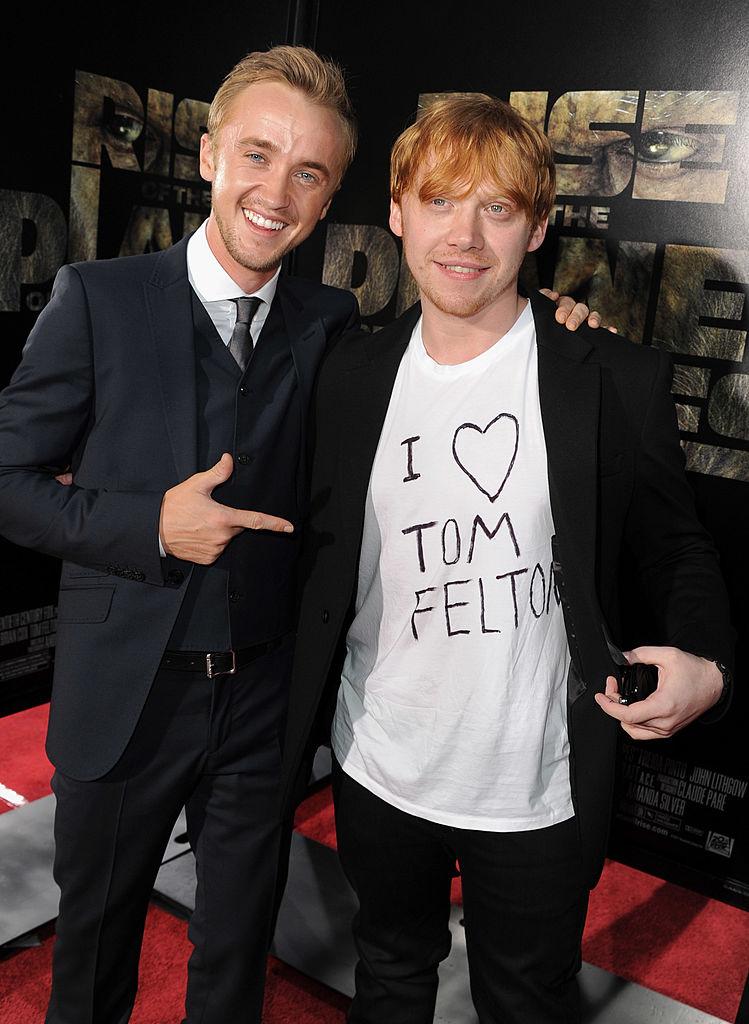 同作の中では敵役を演じたルパートとトム。でも私生活では大の仲良し!