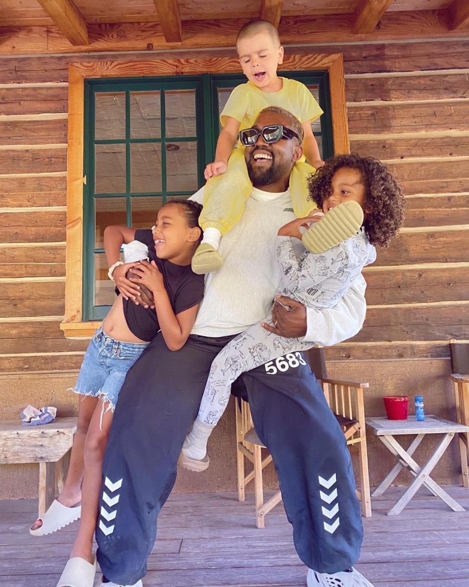 子供たちにとっては素晴らしい父親だと言うカニエ。
