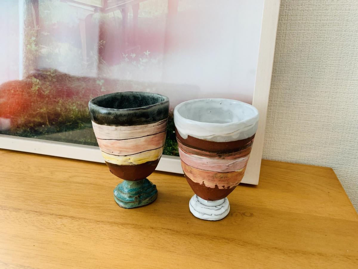 グラスとして使わない日はオブジェとして飾っています。