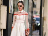 白い襟がグッドガールなヴァレンティノのドレス