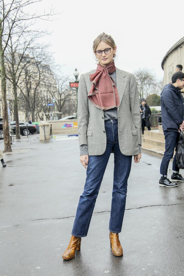 フレンチシックなジャケットスタイルはママ譲り!