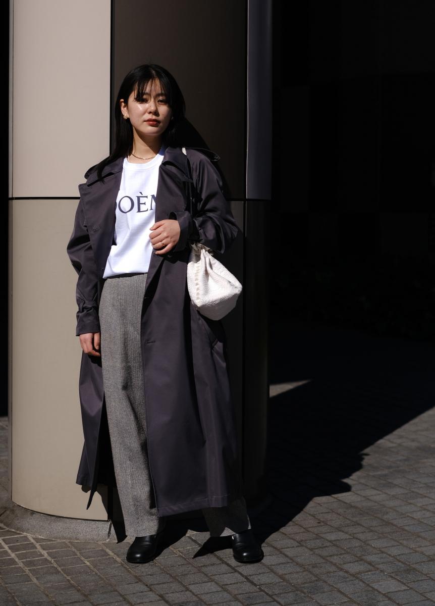 メンズサイズのコートでハンサムにまとめて
