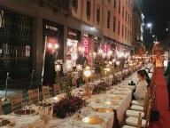 モンテナポレオーネ通りでリュクスなディナーを