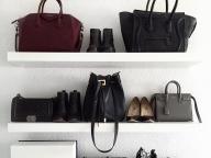 靴&バッグをミックスして美しく並べて