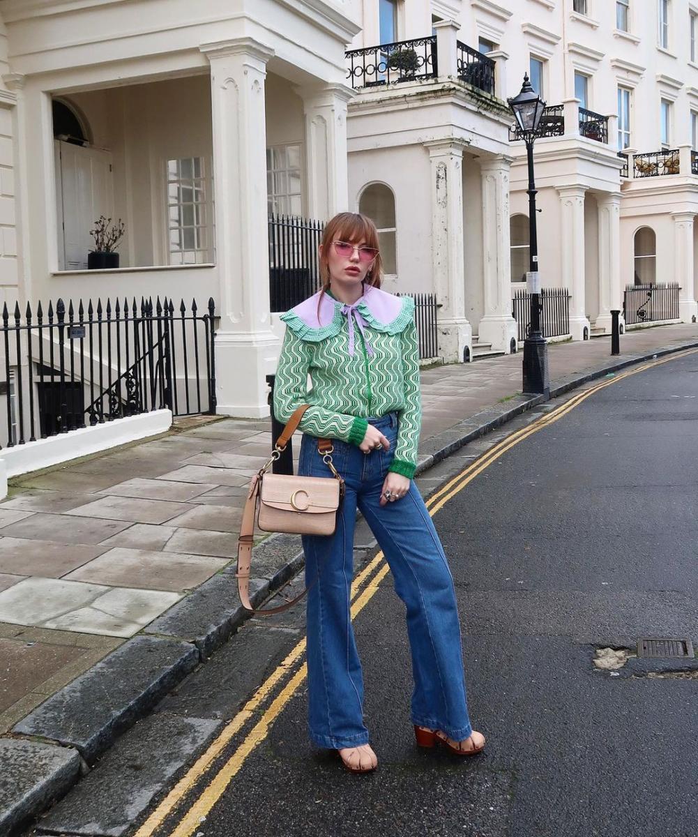 '70sスタイルにつけ襟をオン
