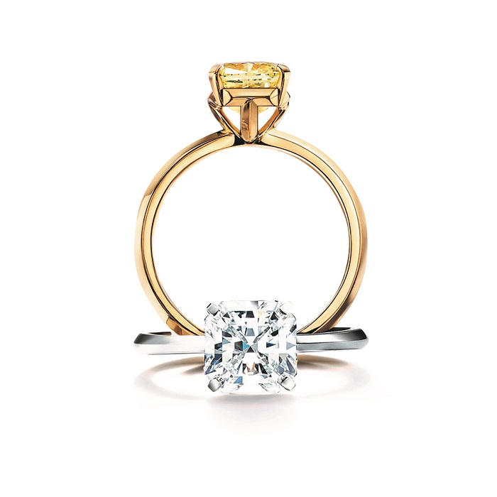 a64903f8203e 上から:「ティファニー トゥルー」エンゲージメント リング<YG、イエローダイヤモンド0.9ct~>100万円台後半~・<Pt、ダイヤモンド0.7ct~>100万円台~  ※0.7ct以下 ...