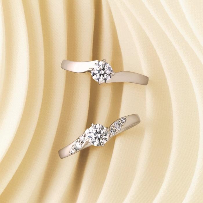 a40c00b0a5d8 上)エンゲージメントリング〈Pt、ダイヤモンド0.2ct~〉¥256,000~