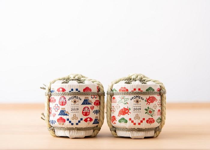 年始めのあいさつにもオススメ、干支を描いた豆樽