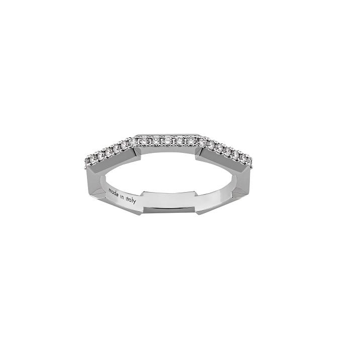 「グッチ リンク トゥ ラブ」リング〈WG、ダイヤモンド〉¥280,500