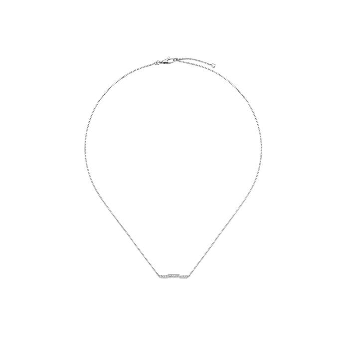 「グッチ リンク トゥ ラブ」ネックレス〈WG、ダイヤモンド〉¥279,400