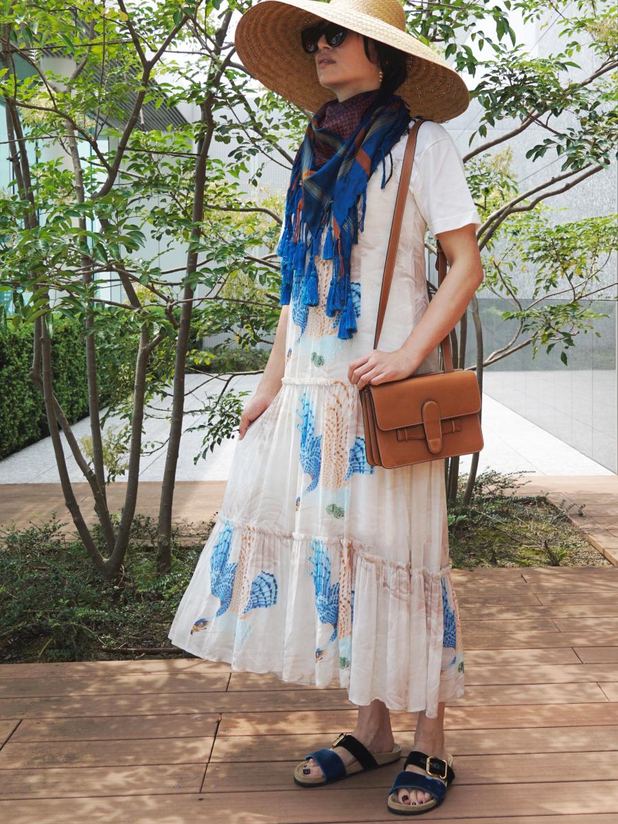 Tilly Swoop Dress(リブニットとセット)¥49,000/ALLSAINTS