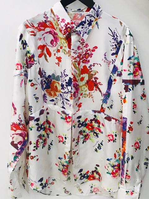 ディオールの花柄シャツ