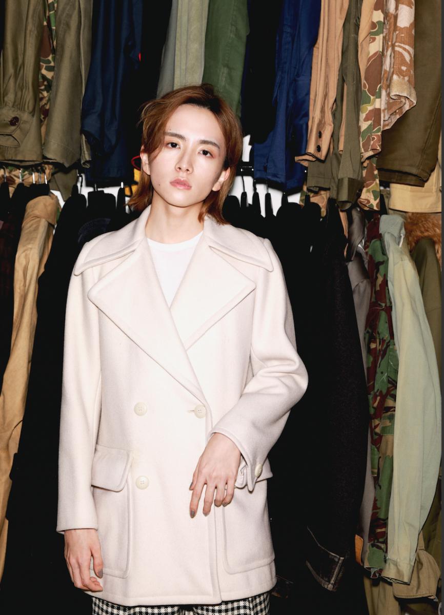 70年代のイヴ・サンローランのPコート。いま着ても美しい仕立てに板垣さんも惚れ惚れ。