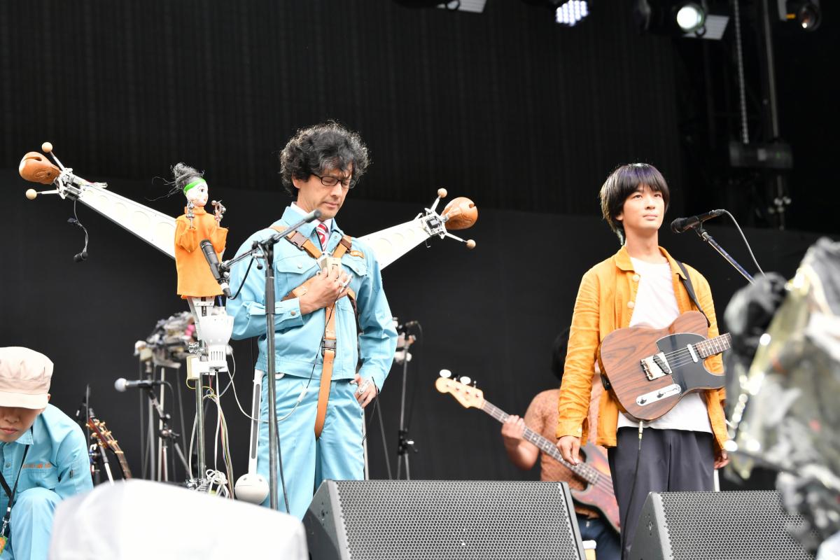 トクマルシューゴ&明和電機社長 Ⓒ Masanori Naruse