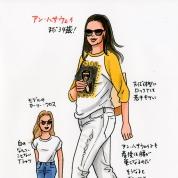 大人女子のTシャツとデニム。腰周りの肉が重くなったらアン・ハサウェイだってキビシい