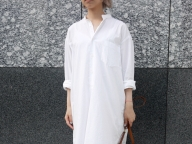 9月2日/編集H/シルエットが綺麗なシャツドレス