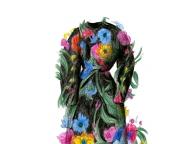 花柄のロングドレス ― 家族が着ていた服 ―