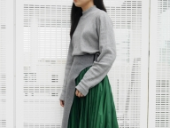 10月3日/編集S/構築的なプリーツスカート