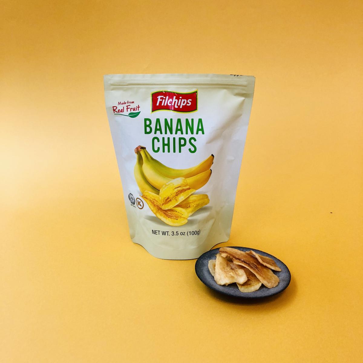 「フィルチップス バナナチップス」。100g299円。成城石井直輸入商品だそう