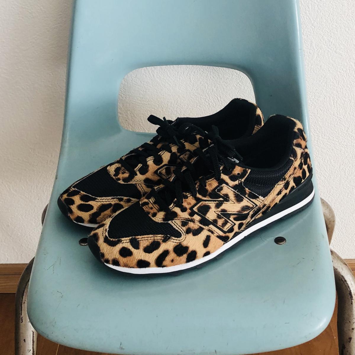 New Balance® X J.Crew 996 sneakers in leopard calf hair