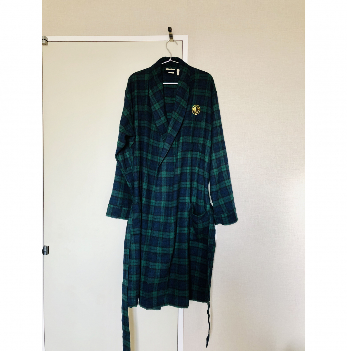 Scotch Plaid Flannel Robe, Plaid