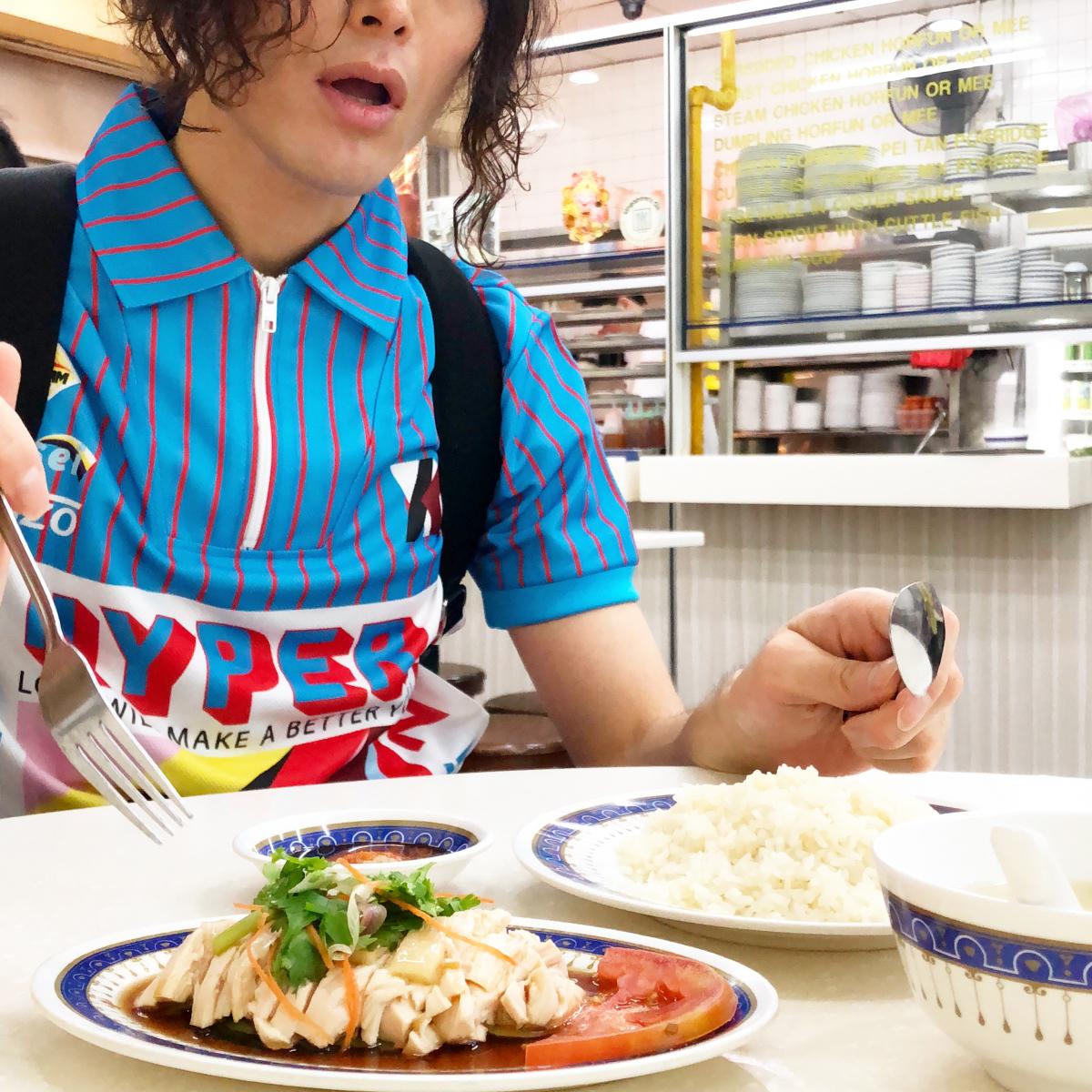シンガポールでの一発目ランチ。「Lucky chicken Rice」。Lucky Plazaにて