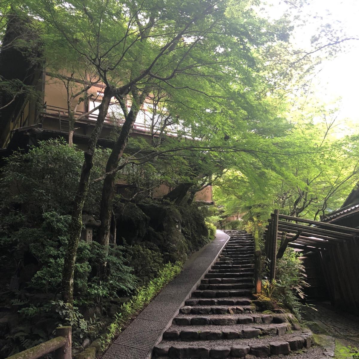 こちらが「星のや京都」の入り口