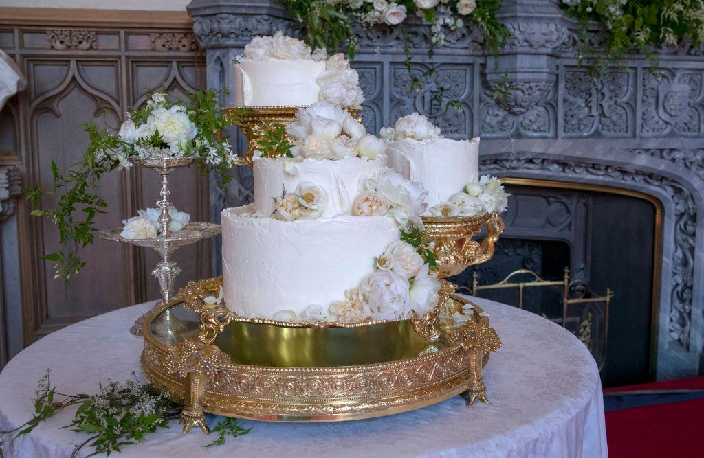 式で披露されたウェディングケーキはこちら! Photo:Getty Images