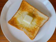 バターは塗るものではなく、かじるものです