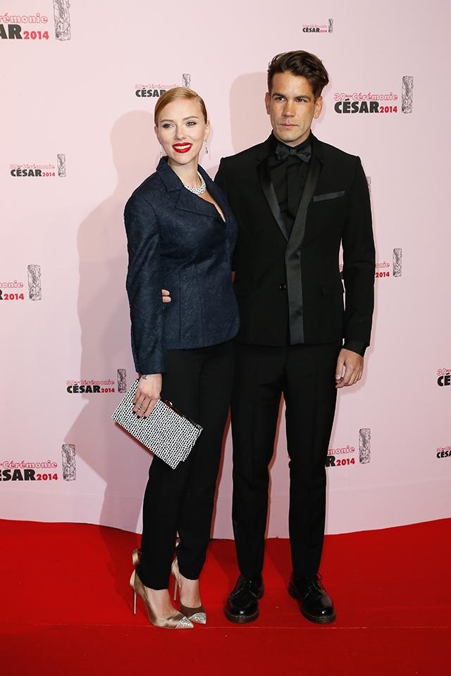第39回セザール賞には、このときまだ恋人だったロマン・ドリアックとともに参加(2014年) © Bernard-Briquet-Orban/ABACA/Newscom/Zeta Image