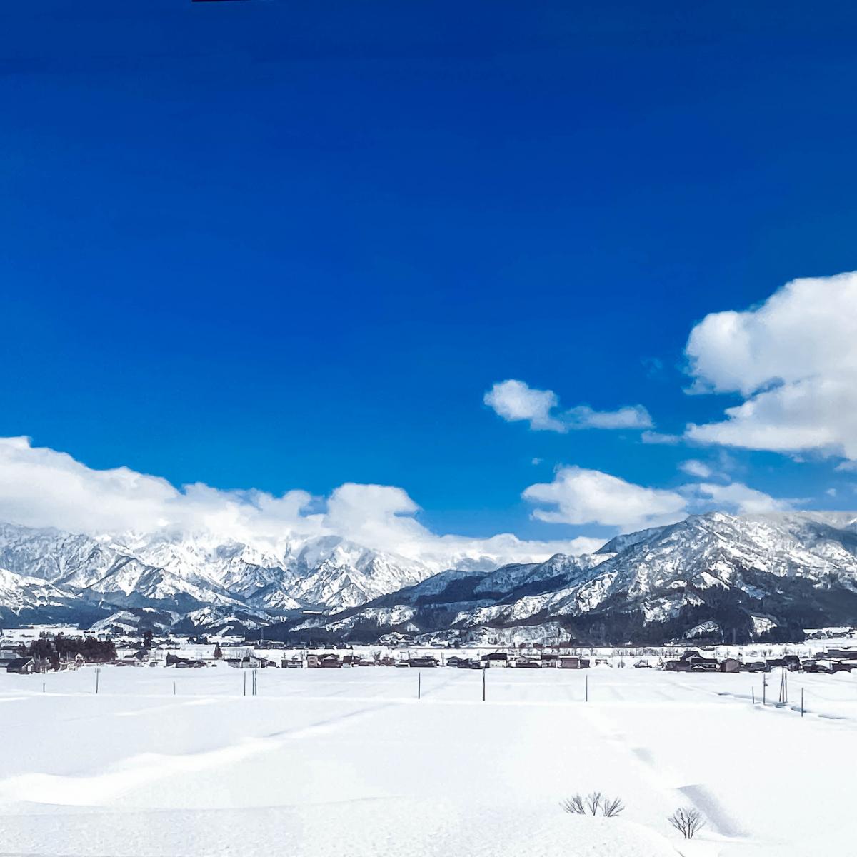 トンネルを抜けるとそこは、一面の雪景色〜〜!