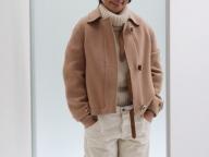 1月7日,ライターT,上質コートをルーズに着こなす